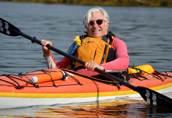 Following treatment for prostate cancer 15 years ago, Hal Richman has returned to doing the things he loves, like kayaking. Drawing on his cancer experience, he's eagerly helping Dr. Gabriela Ilie, QEII research scientist, Dr. Rob Rutledge, QEII radiation oncologist, and Dr. David Bell, QEII urologist, in their quest to understand and improve the quality of life for men following prostate cancer.