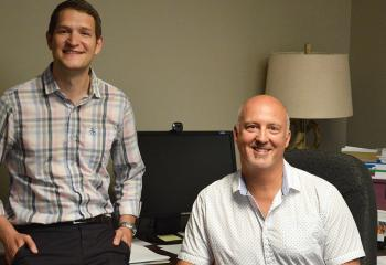 Peer support worker Noah Epstein, with director of the NSEPP, Dr. Phil Tibbo