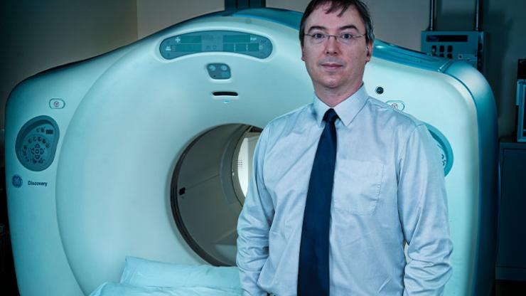 Dr. James Clarke, Chief of Diagnostic Imaging at the QEII