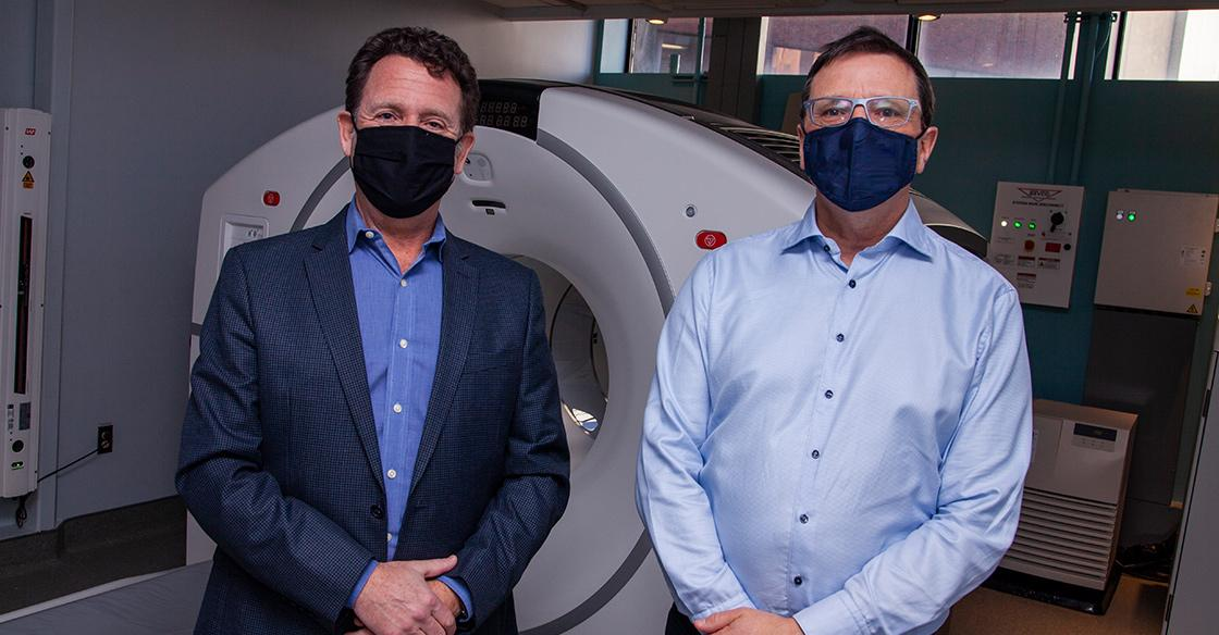 Dr. Daniel Rayson, Oncologist and QEII Division Head, Medical Oncology & Dr. Steven Burrell, Radiologist and QEII Head, Nuclear Medicine