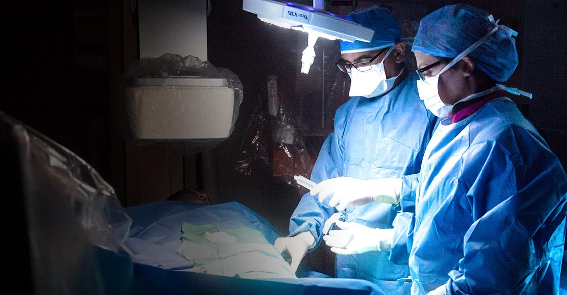 Surgeons in Cath Lab D, funded by QEII Foundation donors.