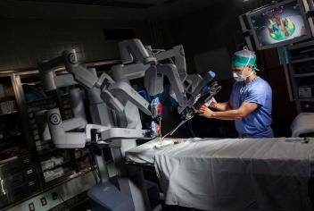 Donor-funded surgical robotics technology enabled teams to continue operating.